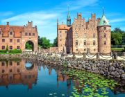 Egeskov Castle on Funen island in Denmark